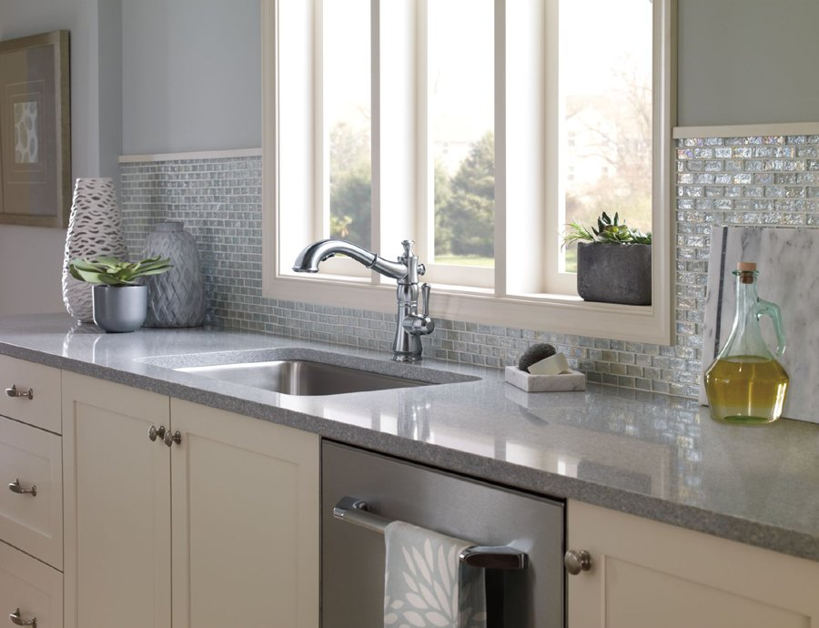 Clean Kitchen counter and sink